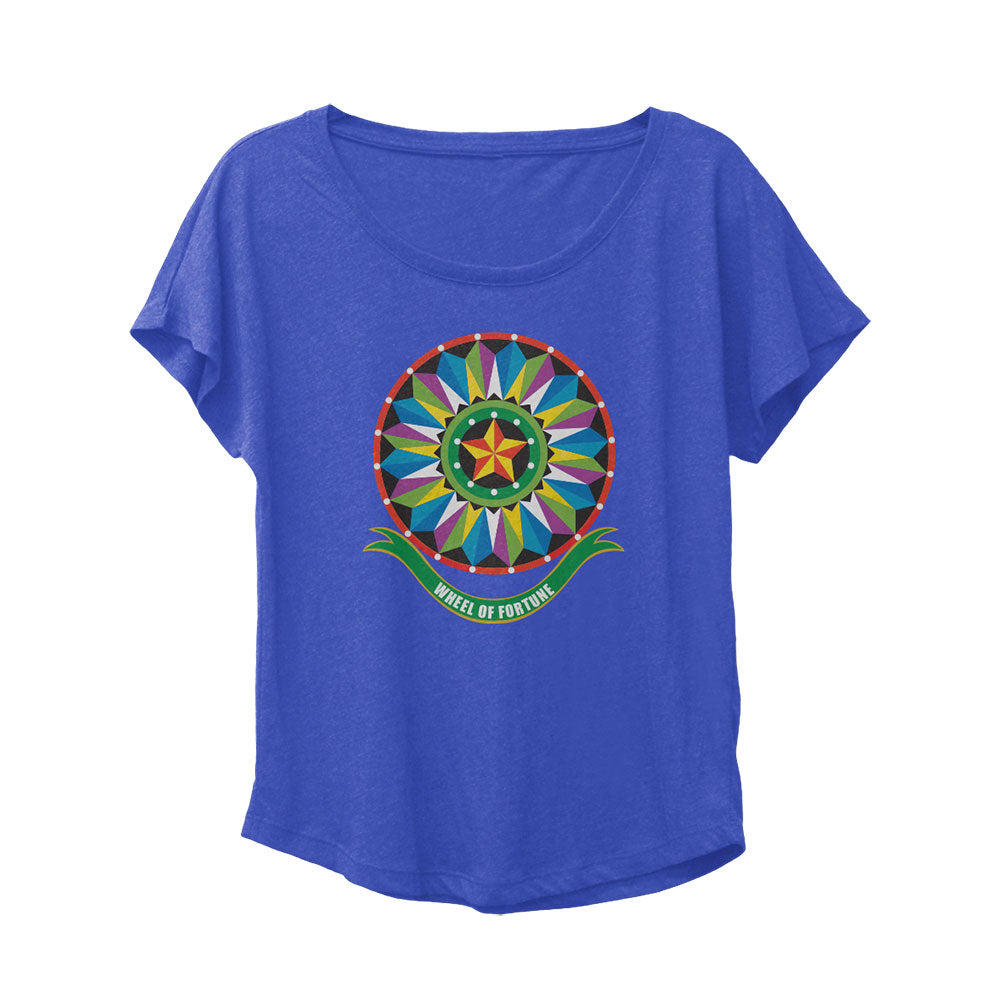 Wheel of Fortune Bob Mackie Foil Wheel Blue Dolman