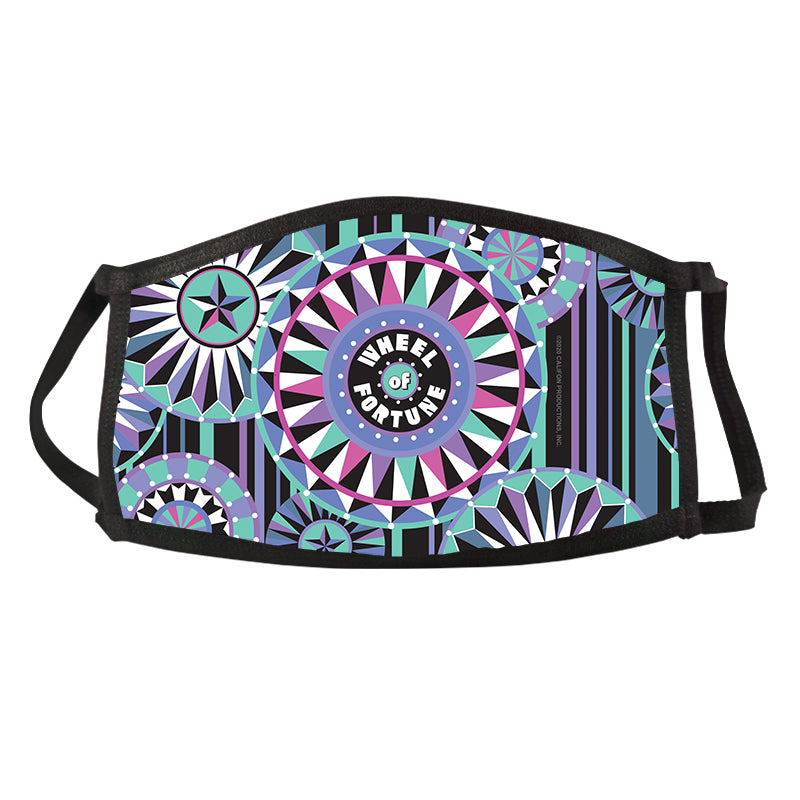 Wheel of Fortune Bob Mackie Blue Wheel Face Mask