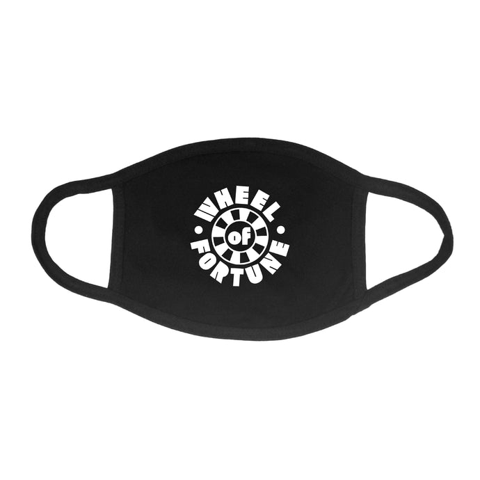 Wheel of Fortune Black Face Mask with White Logo