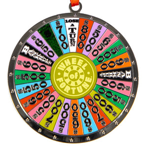 Wheel of Fortune Spinning Wheel Ornament