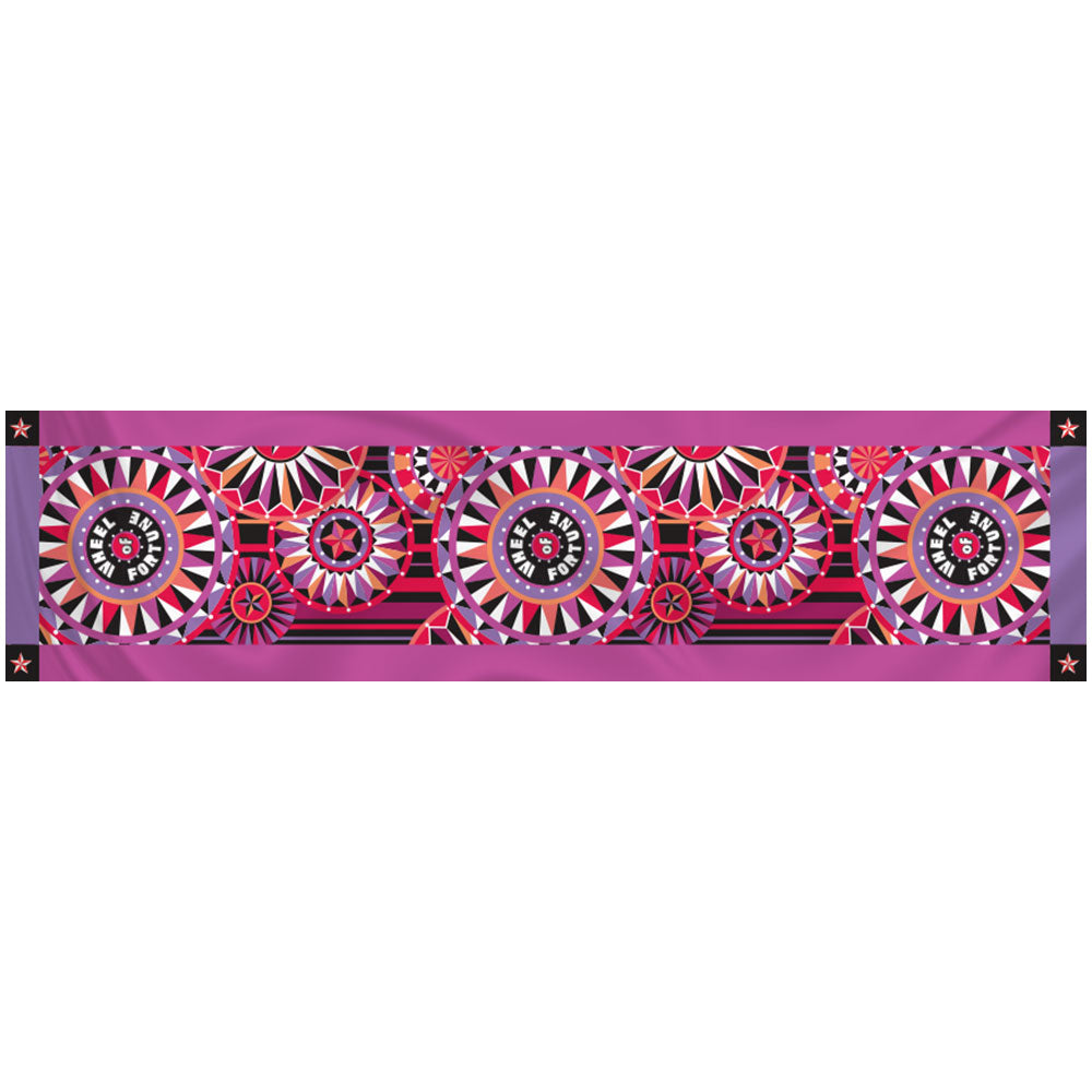 Wheel of Fortune Bob Mackie Orchid Scarf