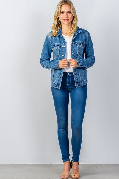 Ladies fashion denim jacket