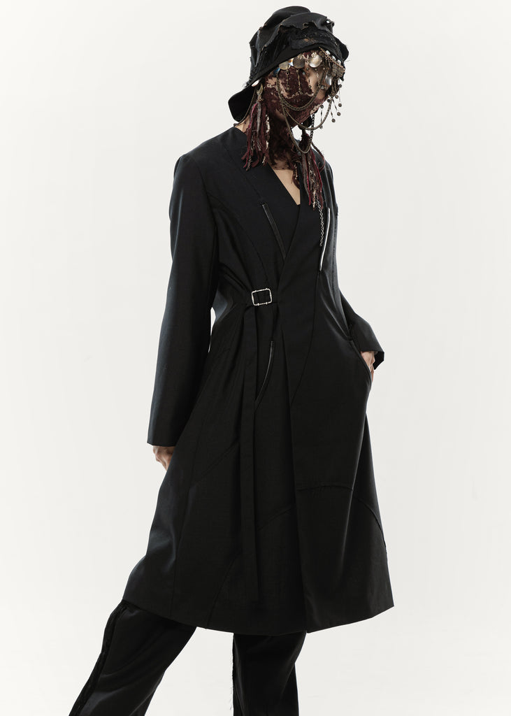 20FW Women's - Collarless Coat