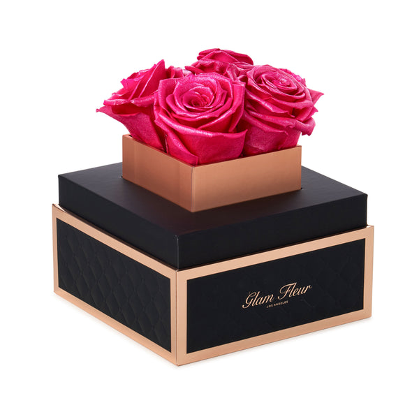 Noir Petite Glow Winter Cherry Luxury Preserved Roses