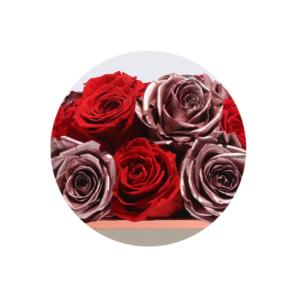 Vintage & Red Impala Luxury Preserved Roses