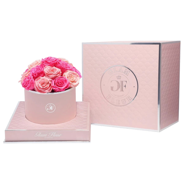 Fuschia & Light Pink Luxury Preserved Roses