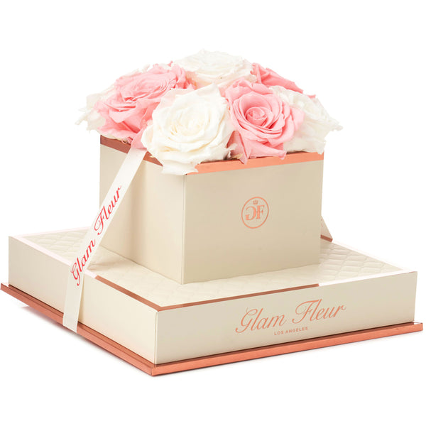 Montagé Chic Light Pink and Ivory Preserved Roses