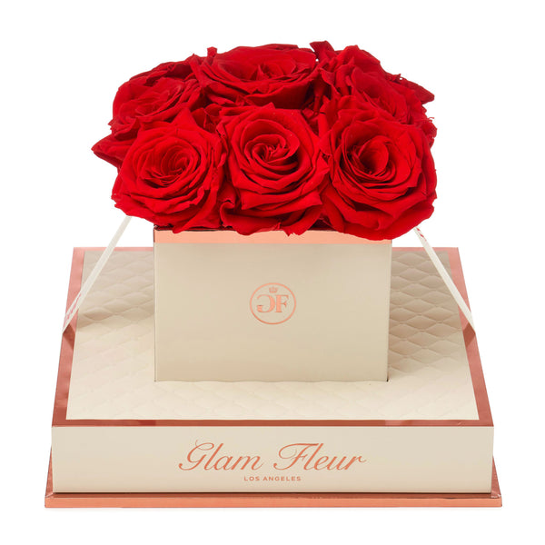 Montagé Chic Light Red Preserved Roses