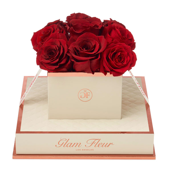 Montagé Chic Red Preserved Roses