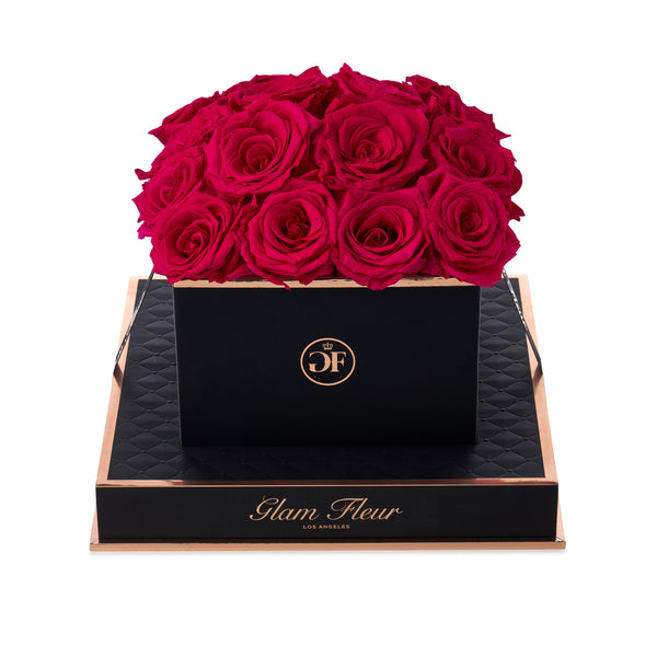 Noir Square Bella Monjet Luxury Preserved Roses