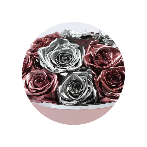 Vintage & Mirror Edge Luxury Preserved Roses