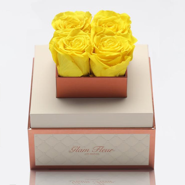 Montage Petite Yellow Lucidity Luxury Preserved Roses