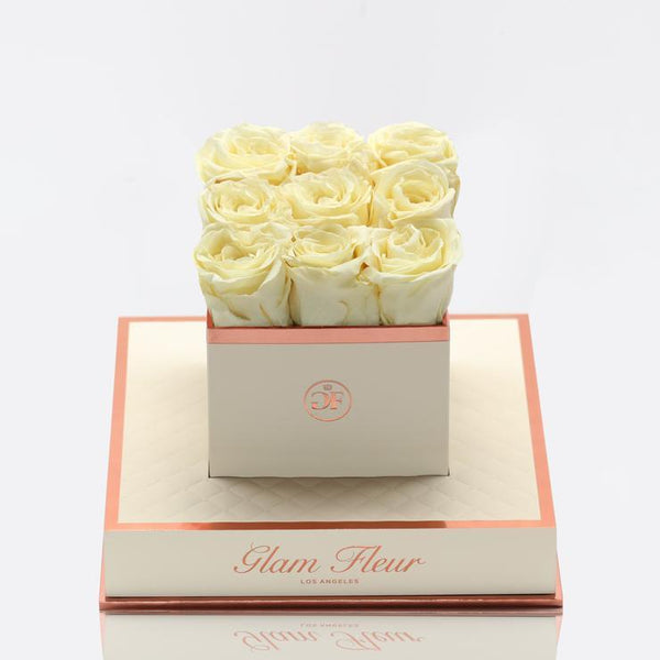 Montage Chic Creamy Grace Luxury Preserved Roses