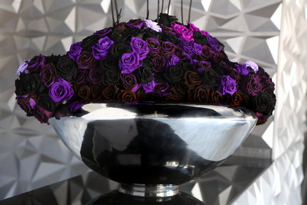 One of a Kind Aluminum Bowl Purple from GlamFleur