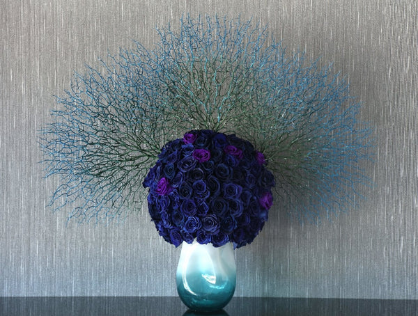 One of a Kind Blue Vase from GlamFleur