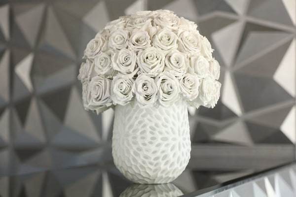 One of a Kind Vase White from GlamFleur