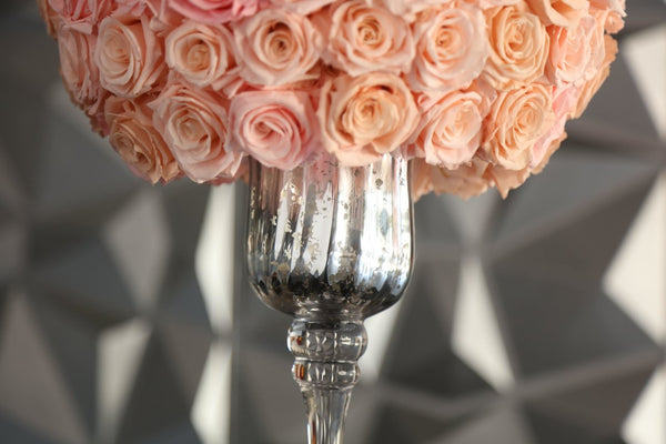 One of a Kind Glass Pink Luxury Preserved Roses