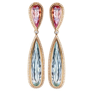 Aquamarine & Morganite Earrings