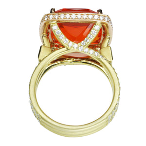 Fire Opal Ring 10.45 Carats