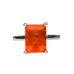 Fire Opal Ring 4.07 Carats