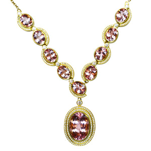 Morganite & Diamond Pendant 67.50 Carats