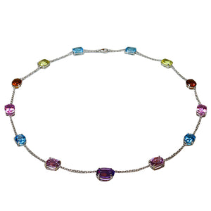 Multicolor Gemstone Necklace 81 Carats
