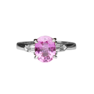 Pink Sapphire Ring 2.05 Carats