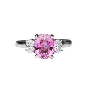 Pink Sapphire Ring 2.21 Carats