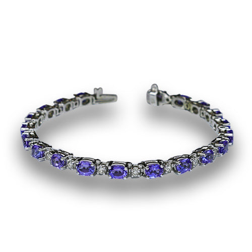 Tanzanite and Diamond Bracelet 9.60 Carats