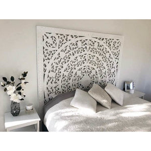Carved headboard wall feature in Double, Queen or King - Unique Imports brought to you by Pablo & Kerrie Wijaya