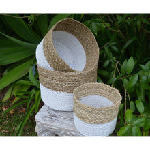 Load image into Gallery viewer, Weaved Seagrass basket set.