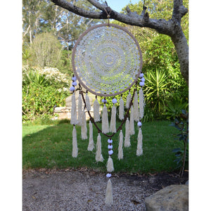 Pom pom & Beaded dream catcher - Unique Imports brought to you by Pablo & Kerrie Wijaya