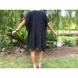 Pleated Fringe dress - Unique Imports brought to you by Pablo & Kerrie Wijaya
