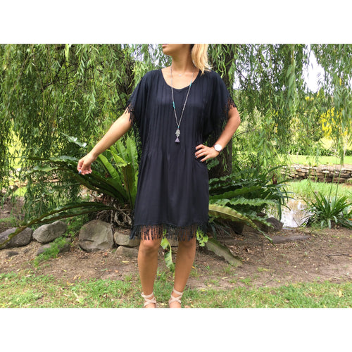 Pleated Fringe dress