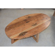 Load image into Gallery viewer, Recycled Oval Coffee table.