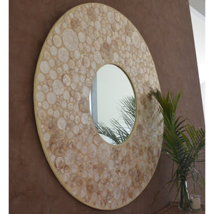 Tribal shell mirror - Unique Imports brought to you by Pablo & Kerrie Wijaya