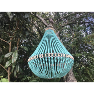 Large Beaded Aqua light - Unique Imports brought to you by Pablo & Kerrie Wijaya