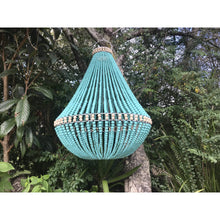 Load image into Gallery viewer, Large Beaded Aqua light - Unique Imports brought to you by Pablo & Kerrie Wijaya