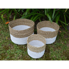 Load image into Gallery viewer, Weaved Seagrass basket set. - Unique Imports brought to you by Pablo & Kerrie Wijaya