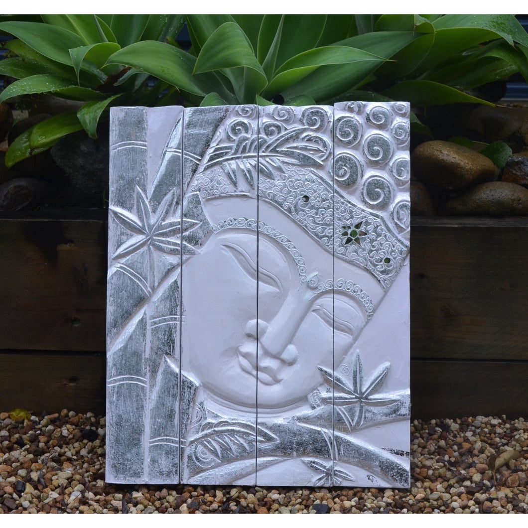 Silver Budha wall Hanging - Unique Imports brought to you by Pablo & Kerrie Wijaya