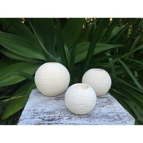 sandstone candle balls - Unique Imports brought to you by Pablo & Kerrie Wijaya