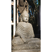 Load image into Gallery viewer, Volcanic rock Budha generosity statue.