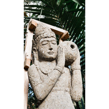 Load image into Gallery viewer, Volcanic rock Wisnu 'God of water' Budha statue.