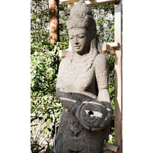 Load image into Gallery viewer, Large Volcanic rock Wisnu 'God of water' Budha statue.