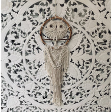 Load image into Gallery viewer, Owl macrame dream catcher. - Unique Imports brought to you by Pablo & Kerrie Wijaya