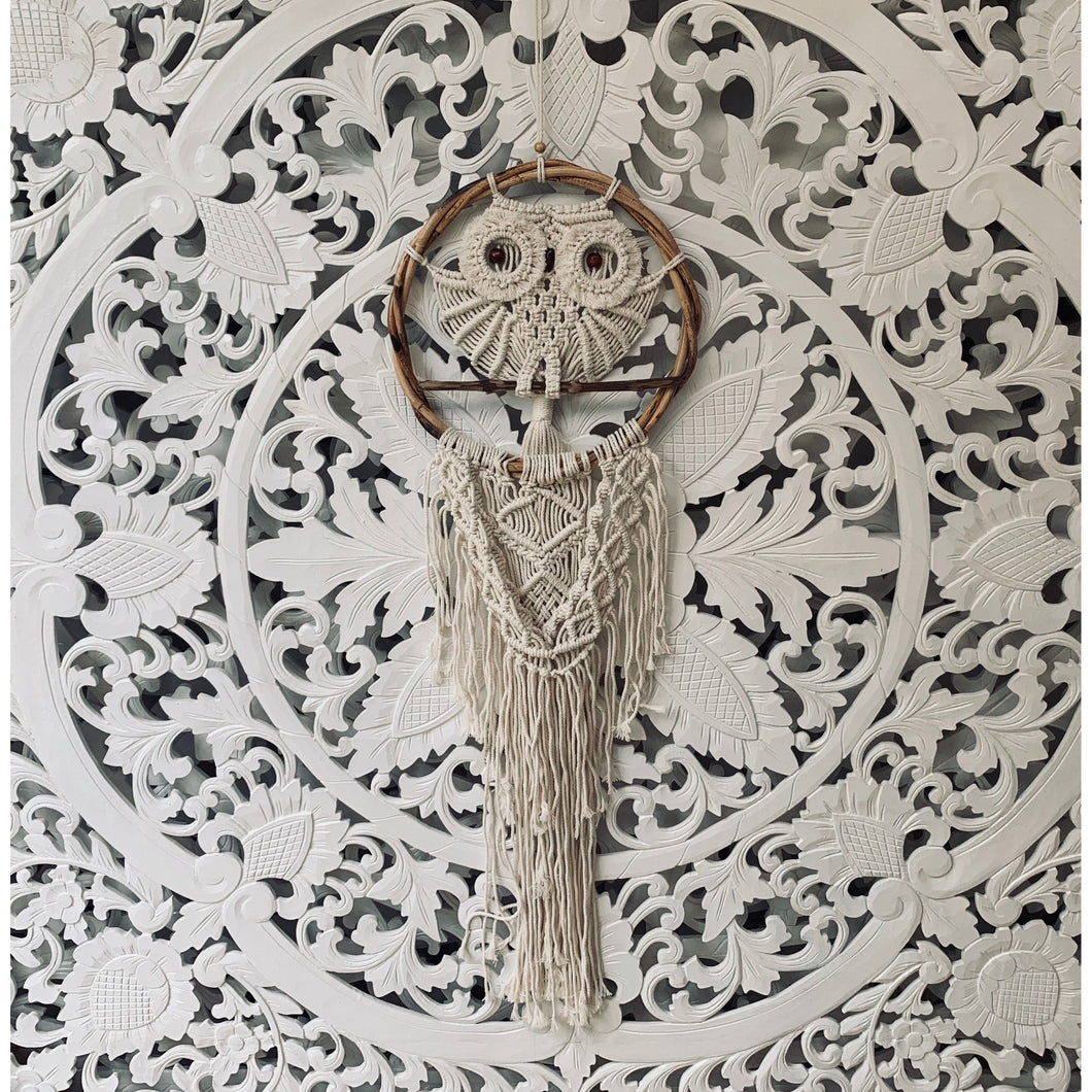 Owl macrame dream catcher. - Unique Imports brought to you by Pablo & Kerrie Wijaya