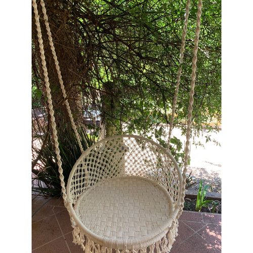 Full Macrame swing chair.