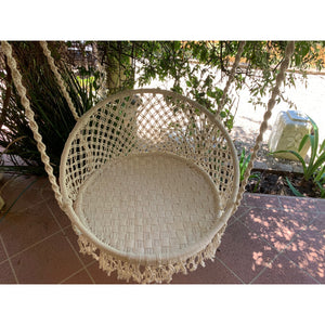 Full Macrame swing chair. - Unique Imports brought to you by Pablo & Kerrie Wijaya