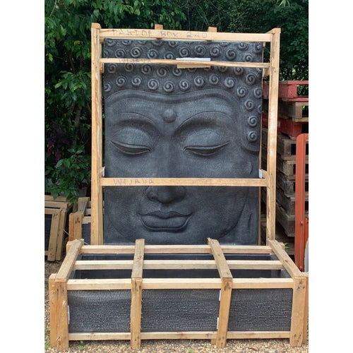 Budha water feature dark charcoal grey.