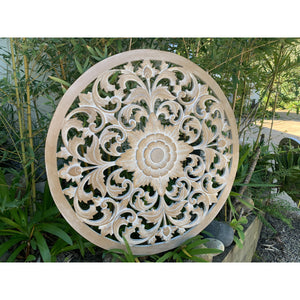 Natural wash Round mandala wall feature! - Unique Imports brought to you by Pablo & Kerrie Wijaya